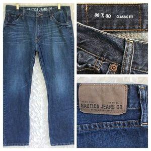 Nautica Classic Fit Straight Zip Jeans 36W x 30L